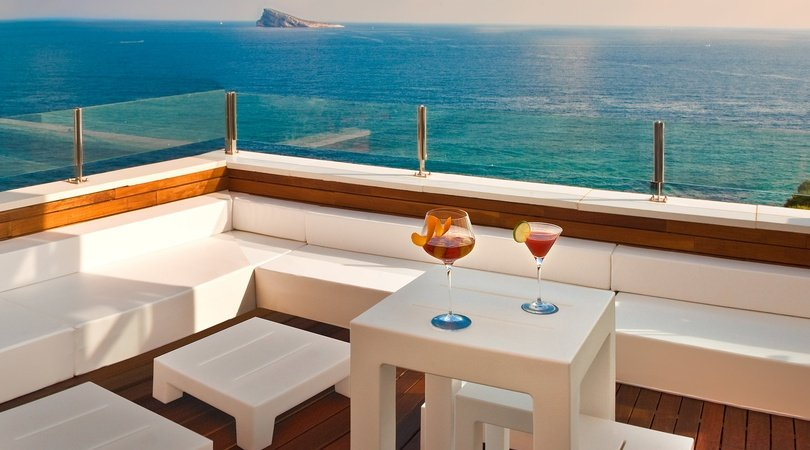 Chillout on the terrace Villa Venecia Boutique Hotel Benidorm