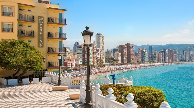 View from the entrance Villa Venecia Boutique Hotel Benidorm